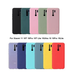 Soft Silicone TPU Matte Candy Solid Color Cover Phone Cases For Xiaomi 11 10T Lite 10Ultra 10 10Pro 10Lite