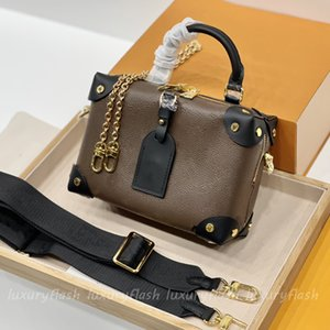 Brown Classic Soft Box Bag Designers Shoulder Crossbody Bags Women Cosmetic Handbags 2021 Handle Handbag Coin Purse High Quality