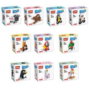Animal Minifigs Funny Family 10 pcs Lot Educationall Fox Sheep Building Blocks Brick Doll Toy For Children