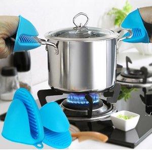Amoyer Cocinan La Prueba De Calor Resistente Holder Hot Pot Guantes Mitones del Horno Casero Cocina /Útiles De Cocina