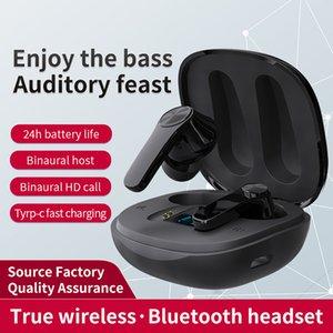 New XT18 Wireless Bluetooth Earphones TWS Subwoofer Headset Digital Display Mini 5.0 Cross-border Headphones