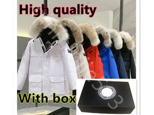 With Box !Mens Canada clothing Down Jackets goose Casual Brand Canadian parkas Windproof gooed Winter women padded label Coat Ultralight high quality Male Parka