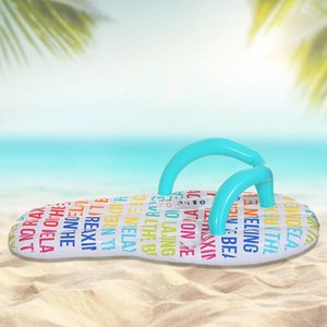 Inflatable Floats & Tubes Printed Air Cushion Slipper Floating Row For Adult Ride Water Toy PVC Swimming Accessories