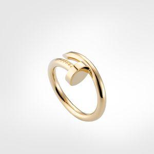 Diseñador anillos de uñas diamantes amor anillo de tornillo clásico joyería de lujo hombres / mujeres titanio acero aleación oro chapado artesanía oro plata rosa nunca se desvanece no alérgico
