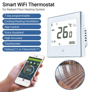 Smart Home Control Wifi Thermostat Floor Heating System Touchscreen Boiler Temerture Only With App And Voice