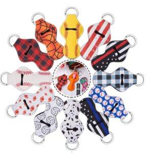 Customize Neoprene Hand Sanitizer Bottle Holder Keychain Bags 30ML 10.5X5.5cm Sanitizer Key Rings Hand soap Bottle Holder with Keychain