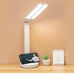 Table Lamps 10W LED Lamp Fold Eye-Care Study Read Book 9 Modes 3200K-6000K USB Charged Rechargeable Desk Light Bedroom Night