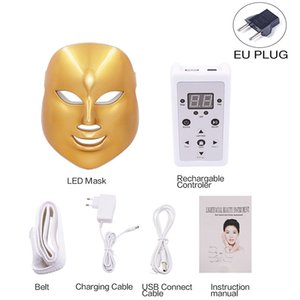 LED Facial Mask Beauty Tighten Skin Rejuvenation Photon Therapy 7 Colors Led Face Mask Light Therapy Acne Wrinkle RemovalRabin