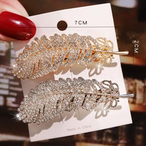 Fashion Hair Pins Vintage Metal Leaf Barrettes HairClip For Women Girl Accessories Hairgrip Delicate Retro Feather Ornament