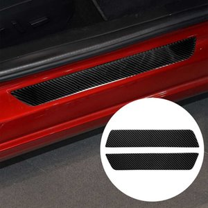 Carbon Fiber Threshold Strip Car Welcome Scooter Sticker Anti-collision Strips Anti-Scratch Protector Strip for Tesla model 3
