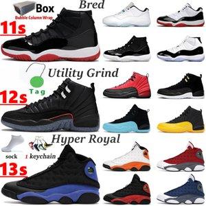 Men Women Basketball Shoes 12 12s Utility Grind Reverse Flu Game 11 11s Legend blue UNC Jubilee 25th Anniversary 13 13s Bred Flint Black Cat Hyper Royal mens sneakers