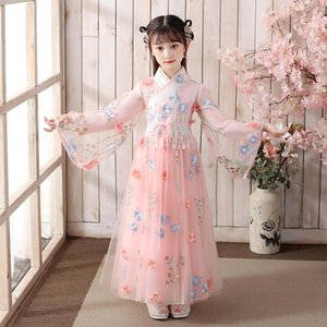 Spring And Autumn Girls' Ancient Hanfu Chinese Style Tang New Year's Costume Stage Performance Clothing Evening Party Dress