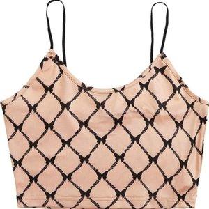 Damen karierter Schmetterling Print Weste Tops Hemden Sommer sexy ärmellos von der Schulter rohr top camisole bluse camisetas tanks camis
