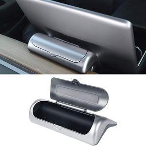 Interior Glasses Case for Tesla Model 3 and Model Y Eyewear Box Holder at Bracket Back of Console Navigation Display