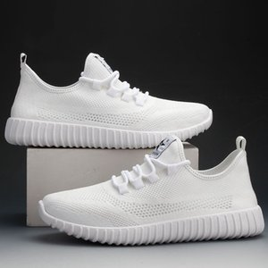 Mesh top casual shoes for men, breathable cool in summer, trendy odor-proof, white and black, size 39-44