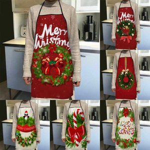 Aprons Merry Christmas Garland Apron Kitchen Decor For Women Oxford Fabric Cleaning Pinafore Home Cooking Accessories
