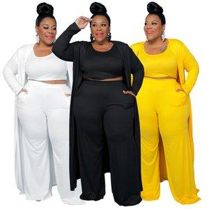 Случайные женщины плюс размер рассеяний мода спортивные дома халат пальто брюки три чашки костюм женская одежда большие размеры для женщин l / xl / xxl / xxxl / xxxxl
