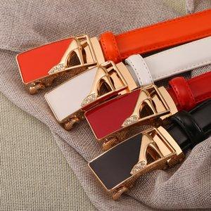 Mode Frauen Echtes Leder Gürtel Herz Diamant Automatische Schnalle Gürtel Für Lady Jeans Kleid Hight Qualität Gürtel Womans Gürtel