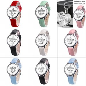 To My Son Daughter Never Forget Love Dad Mom Engraved Watch Kids Children Anniversary Birthday father's mother's day gifts G21902 1647 Y2