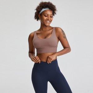 L029B الرياضة اليوغا الصدرية الزي u- شكل لينة الوزن تنفس المرأة برأس دعم العلوي صدمات قمم مثير الملابس الداخلية اللياقة البدنية تانك الأعلى