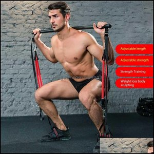 Integrated Equip Equipments Supplies Sports & Outdoorsindoor Muscle Tension Bar With Resistance Bands Rubber Tube Trainer Body Workout Fitne