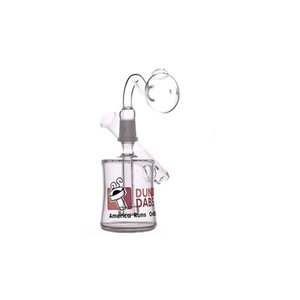 Wholesale mini Dunkin Matrix sidecar glass bong Hookahs birdcage perc Oil rig bong smoking water pipes 14mm male Joint glass oil banger
