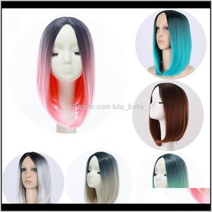 Zf Style 30Cm Ombre S Bob Straight Hair For Women Party Cosplay Natural Yqngm Bd6Ca