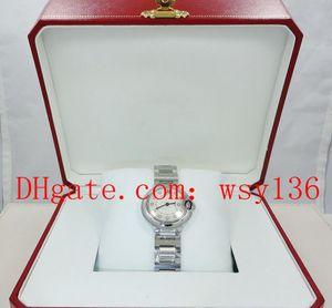 Высочайшее качество Женские кварцевые часы Water We902073 Diamond Diale 28 мм сталь Женская мода Wathces Original Box