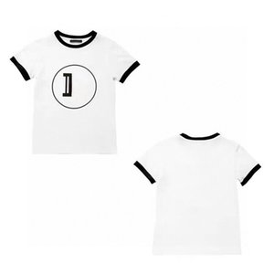 Kids Fashion Short Sleeve T-shirt Cute Boy Casual Top Comfortable Tees Neutral Letter T-shirt Girl Sports Baby Summer Clothes 2021