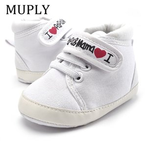 Walking shoes 0 18M Baby Mocassin's Peuter Boys Girls Print Letter Love Papa & Mama Soft Zool Canvas sneaker Anti Slip Shoes 210827