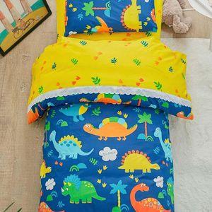 Coton 3pcs / couette pour enfants de la maternelle Enfants Dessin animé Draps Draps Baby Berceau Literie Set sans garnitures de remplissage