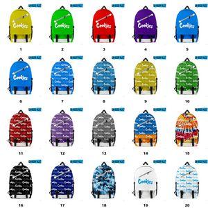 20 Styles Cookies Diagonal Zipper Bag Cigar Backpack for Men Boys Laptop 2 Straps Travel School Shoulders Bags