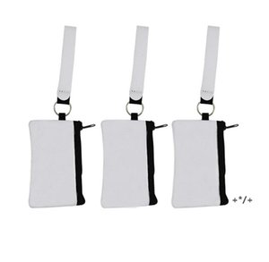 Sublimation Blank Credit Card Holder Storage Bags Heat Transfer Print Neoprene Purse Lanyard Wristlet Wallets Handbags by sea GWB10728