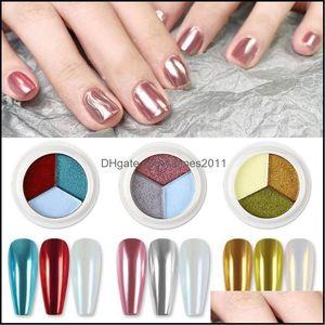 Nail Salon Health & Beautynail Glitter 1 Pcs Three-Color Solid Magic Mirror Powder For Diy Nails Art Fashion Shining Aessories Manicure Desi