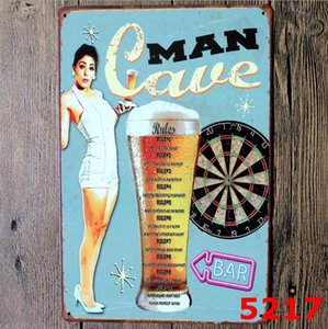 Tin Sign Car Motorcycle Cafe Coffee Dog Cat Motor oil Beer Egg Vintage Signs Home Decor Bar Plaque Pub Decorative Metal Wall Art OOF6886