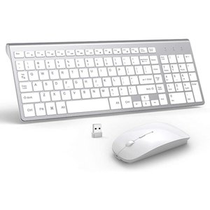 Keyboard Mouse Combos Wireless And Combination, Full-size Keyboard, Sliding Mouse, Suitable For PC, Notebook, Desktop, Windows, Mac OS