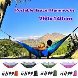 Outdoor Games & Activities Large Mosquito Net Parachute Hammock 1-2 Person Hanging Sleeping Bed For Camping Backpacking Travel Beach 260x140