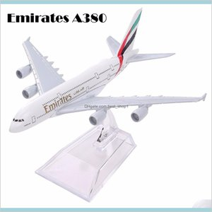 Air Emirates A380 Airlines Airplane Model Airbus 380 Airways 16Cm Alloy Metal Plane W Stand Aircraft M6-039 Lj200930 E3Xk5