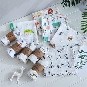 120cm*110cm Swaddle Baby Blanket Bamboo Muslin Blanket Kids Baby Bath Towel Blankets Newborn Blanket Swaddle Cotton 1453 Y2