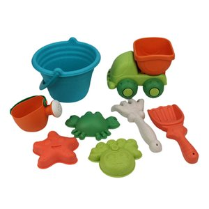 1 Set Digging Sand Tools Children Portable Interactive Funny Safety Bucket Rake Present for Children Outdoor Playing L0323