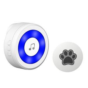 Doorbells YIROKA Dog Door Bell, Self-Powered Potty Training Bell,Super-Light Press Button Doorbell,Lifetime Battery Free,Chime Op