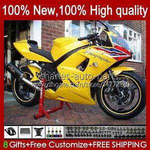 Kit bodywork per trionfo Daytona 600 650 cc Glossy Yellow Daytona650 02-05 Cowling 104HC.31 DayTona600 2002 2003 2004 2005 Bodys Daytona 600 02 03 04 05 Full Fairings