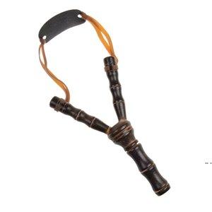새로운 나무 slingshot 야외 촬영 장난감 대나무 스타일 목조 장난감 아이들 어린이 스포츠 게임 슬링 샷 투석기 재미있는 사냥 선물 HWD5713
