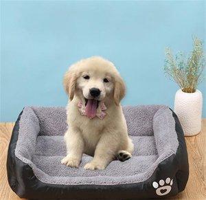 S-3XL Fleece Dog Bed Pattren Waterproof Bottom Pet Sofa Mat Warm Dog Beds For Large Dogs Dropshipping cama perro 408 S2