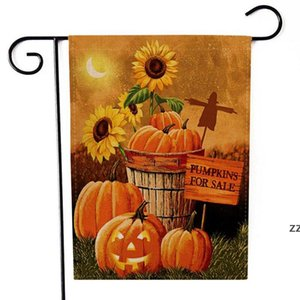 halloween thanksgiving decorations garden flag Pumpkin Flags Hanging outdoor Garden Banner Home Party Decoration HWE9640