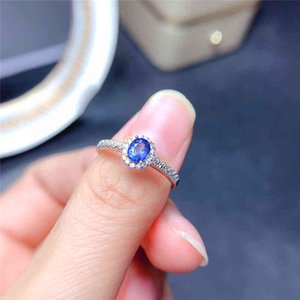 Ringe WEAiny Saphir Ring Frauen 925 Sterling Silber 4 * 5mm Blau Natural Edelstein Fine Schmuck für Jubiläum C2 21