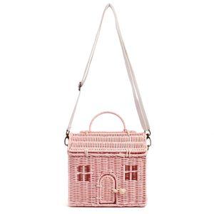 House Creative Shape Rattan Women Handbags Wicker Woven Shoulder Crossbody Bags Funny Summer Beach Straw Bag Handmade Travel Bag C0326