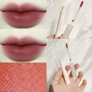 Herorange Kleine Melk Buis Kastanje Lip Modder Fluwelen Matte Matte Lip Glazuur Waterdichte Melk Buis Lippenstift Lipgloss