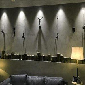 Креативные скалолазание мужчины скульптура стены висит украшения Смола статуэта статуэтка ремесла домой меблировка декор аксессуары 706 y2