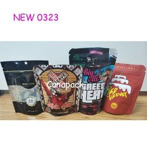 420 3 5g mylar bags runtx RED VELVET STREET HEAT smell proof dry herb flower packaging